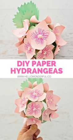 480 best flower crafts for kids images on pinterest in 2018 crafts diy paper hydrangea flowers paper crafts for kidsdiy mightylinksfo