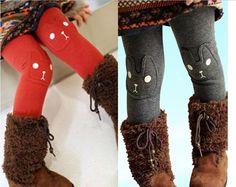 Moda lindo conejo baby girl Leggings de algodón lycra pantalones pantalones niños ropa niños ropa
