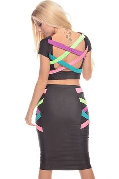Cool Semi Formal Dresses BLACK MULTI STRAPPY 2 PIECE CROP TOP AND SKIRT SET Check more at http://24myshop.ml/my-desires/semi-formal-dresses-black-multi-strappy-2-piece-crop-top-and-skirt-set/