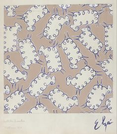 Textile Design, 'Little Lambs' | LACMA Collections.  Elza Sunderland (Hungary, active United States, California, Los Angeles, 1903-1991)