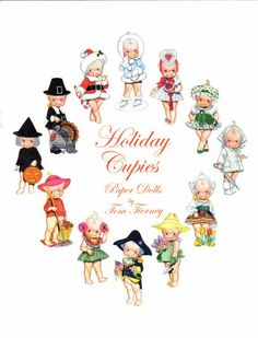 Holiday Cupie dolls and outfits Absolutely adorable! Cupie Dolls, Kewpie Doll, Paper Toys, Paper Crafts, German Toys, Art Folder, Doll Party, Bisque Doll, Vintage Labels