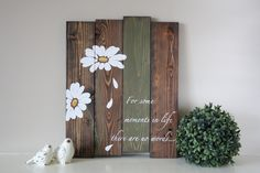 Reclaimed wood wall art For some moments in life by TinHatDesigns