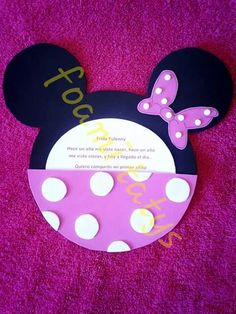 Invitacion minnie mouse rosa