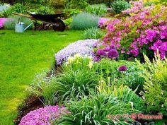 Backyard And Landscape Garden: How To Design A Flower Garden Cottage Gardens, Outdoor Living, Outdoor Decor, Garden Landscaping, Stepping Stones, Garage, Decorating Ideas, Backyard, Gardening
