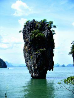 James Bond Island, Thailand.   Phang Nga National Park, just off the coast of Ao Nang. Totally stunning scenery.