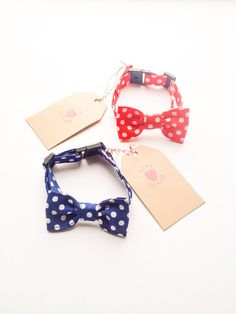 Happy Dog and Cat Lovely Retro Polka Dot Yellow Bow tie Collar :) Love Factory By Rie Miyamoto handmade bows jewelry accessory on Etsy, $15.00