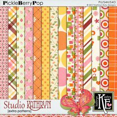 Studio Kathryn Extra Patterned Papers :: Coordinates with the entire Studio Kathryn Digital Scrapbooking Collection by Kathryn Estry @ PickleberryPop  $3.99