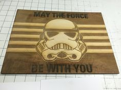 In the spirit of recent Star Wars phenomena, here's the laser cutting project I did for my brother's Christmas gift this year! Turned out well for my first try. #StarWars #MaytheForceBeWithYou