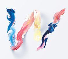 Graphic Design Studio Creates A Gorgeous Typeface Made Of Paint Strokes - DesignTAXI.com