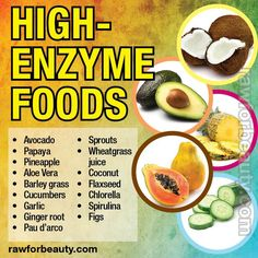 High Enzyme Foods. Using enzymes as prevention or treatment or in addition to treatment of cancer.