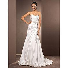 uma linha de trem tribunal namorada de cetim vestido de noiva chiffon – BRL R$ 308,15