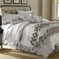 Colonial Textiles Anastacia 8 Piece Comforter Set in Pearl White & Reviews | Wayfair