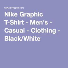 Nike Graphic T-Shirt - Men's - Casual - Clothing - Black/White