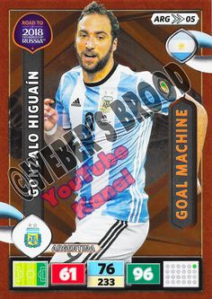 ARG05. Gonzalo Higuain (Argentina) - Goal Machine Panini Road to 2018 FIFA World Cup Russia Adrenalyn XL