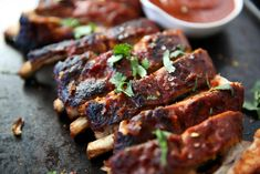 PaleOMG Instant Pot Baby Back Ribs-Made them tonight! Paleo Recipes, Whole Food Recipes, Budget Recipes, Meat Recipes, Free Recipes, New Easy Recipe, Ribs In Oven, Ground Turkey Recipes, Paleo Dinner