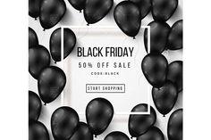Black friday balloons by kotoffei on @creativemarket