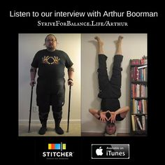 Weight Loss from Yoga.  We interview Arthur Boorman, the man behind the inspiring YouTube video documenting his life changing weight loss through yoga.