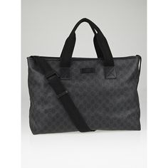 443400b6141d Pre-owned Gucci Black/Grey GG Coated Canvas Large Messenger Bag (2.010 BRL