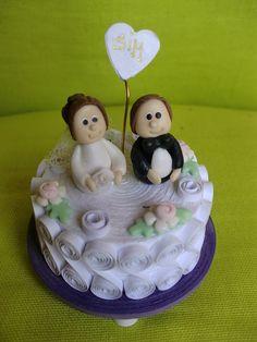 Quilled wedding cake