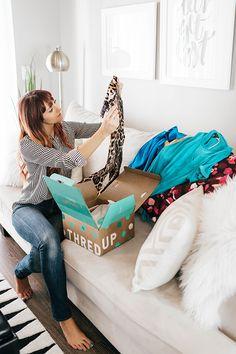 ThredUp Unboxing - shopping designer brands at 90% off!   www.LittleJStyle.com #sponsored #secondhandfirst #ThredUp