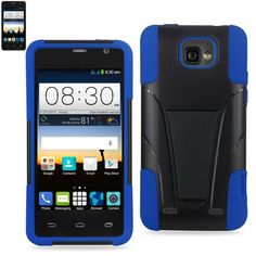 Reiko Silicon Case+Protector Cover For ZTE Sonata 2 New Type Kickstand Navy Black-LG Lamcet-LG Vw820