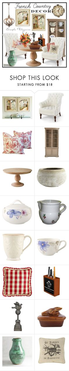 """French Country Decor"" by hastypudding ❤ liked on Polyvore featuring interior, interiors, interior design, home, home decor, interior decorating, Villeroy & Boch, Lenox, Sherry Kline and Sunjoy"