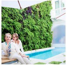 Silvia Tcherassi and her mother Vera at the Tcherassi Hotel+Spa in Cartagena de Indias, Colombia.