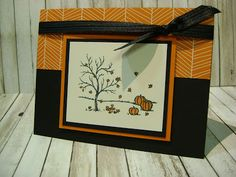 """At a recent demonstrator event I attended I spied this card someone was swapping. I love the simplicity of it. The image is from the set called Happy Scenes, its the one that is featured with the """"Window Frame"""" Hearth & Home Thinlits. The Happy Haunting Designer Series Paper adds the… Continue reading"""