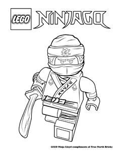 Coloring Page Ninja Jay Basile