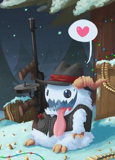 League of Legends - Mafia Poro by Tysirr on DeviantArt