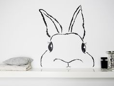 Wandtattoo Hase // wall sticker bunny via DaWanda.com