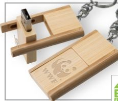 Kayu Wood USB Flash Drive w/ keychain.  Love these as they are sustainable and understated :)