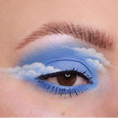 eye makeup art Happy little clouds Turning into a regular eye look account over here arent we Here is my contribution to the lovely cloud trend. Eye Makeup Art, Colorful Eye Makeup, Makeup Inspo, Eyeshadow Makeup, Makeup Inspiration, Makeup Ideas, Makeup Tips, Eye Makeup Tutorials, Foil Eyeshadow