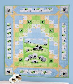 """""""Counting Sheep"""" by Sue Harvey and Sandy Boobar (from The Quilter Magazine August/September 2013 issue)"""
