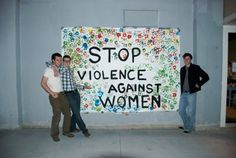 Amnesty International at OU: Handprint Mural for Stop Violence Against Women Campaign