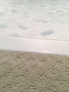 Tiling Bathroom Door Threshold carpet to tile no threshold | flooring/threshold options