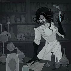 Day 5 of is Laboratory! I was ready to give up and not to post this artwork, I barely had the strength to finish it, sorry for being late! One artwork a day is really not my usual schedule. Arte Horror, Horror Art, Character Inspiration, Character Art, Abigail Larson, Arte Obscura, Poses References, Creepy Art, Arte Pop