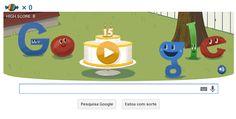 Comemorando 15 anos de Google com Doodle!