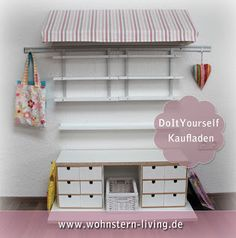 kaufmannsladen selber bauen 9 ideen babybirds. Black Bedroom Furniture Sets. Home Design Ideas