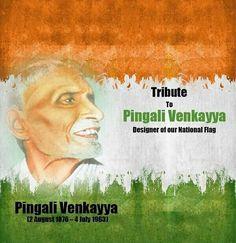 My Tributes To Sri Pingali Venkayya ji On His 141st Birth Anniversary. The man who Designed The National Flag Of India. #PingaliVenkayya
