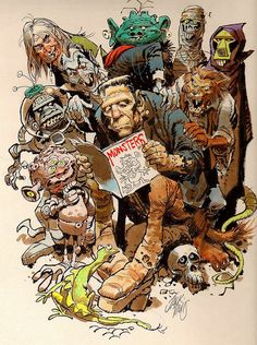 Monsters by Jack Davis! #HappyHalloween