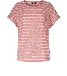 New Look Teens Red Stripe T-Shirt 3679978 Teens. Opt for stripes for laid back looks this season. This red tee is ideal.- All over stripe print- Soft neppy fabric- Rounded neckline- Simple short sleeves- Roll sleeves- Casual fit that is true  http://www.MightGet.com/march-2017-1/new-look-teens-red-stripe-t-shirt-3679978.asp