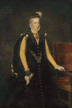 Anna of Austria, 1570 (Anthonis Mor) (ca. 1519-1575)   Kunsthistorisches Museum, Wien GG_3053
