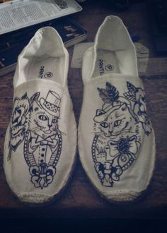 Victorian Cat Shoes