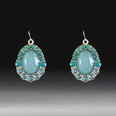 Fashion Oval Earrings-Mint