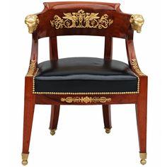 [ French Empire Desk Chair Circa 1830 S At ] - Best Free Home Design Idea & Inspiration Empire Furniture, Gothic Furniture, European Furniture, French Furniture, Unique Furniture, Desk Chair, Sofa Chair, Muebles Art Deco, French Empire