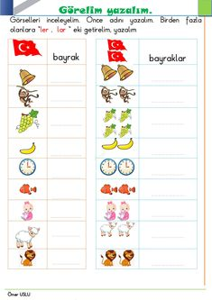 Turkish Lessons, Turkish Language, Crafts For Kids, Map, Education, Words, Sight Word Activities, Languages, Crafts For Children