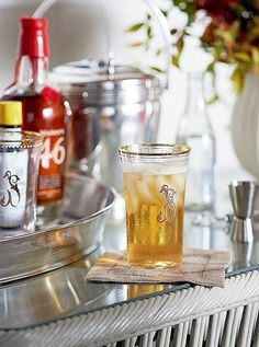 Sam Allen often comes up with a signature cocktail for each occasion -- this tailgate included! Click here to see how to elevate your Super Bowl viewing party with presentation and decor tips, cocktail ideas and festive football-ready flair to add a touchdown of style to any fete!