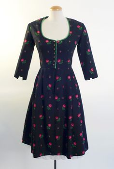 1940s dirndl style dress