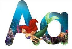 Mickey Mouse Letters, Disney, Outdoor Decor, Home Decor, Party, Ideas, Alphabet, Mermaid, Ariel